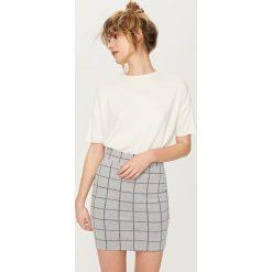 Spódniczki: Spódnica ołówkowa – Jasny szar