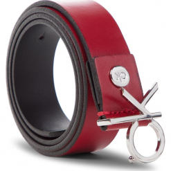 Pasek Damski CALVIN KLEIN - 3Cm Ck Adj.Buckle Belt K60K604899 640. Czerwone paski damskie Calvin Klein, w paski, ze skóry. Za 229,00 zł.