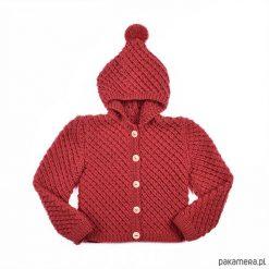 Sweter Czerwony kapturek Merynos Dziecięcy. Niebieskie swetry dziewczęce marki bonprix, z kapturem. Za 200,00 zł.
