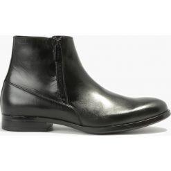 Buty zimowe męskie: Kozaki czarne Michele
