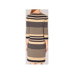 Sukienki krótkie Benetton  MOUDA. Brązowe sukienki mini marki Benetton, s, z krótkim rękawem. Za 207,20 zł.