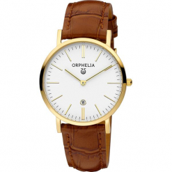 Zegarek kwarcowy w kolorze brązowo-biało-złotym. Brązowe, analogowe zegarki damskie Esprit Watches, ze stali. W wyprzedaży za 204,95 zł.