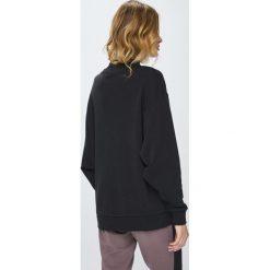 Reebok - Bluza. Czarne bluzy damskie Reebok, l, z bawełny, bez kaptura. Za 199,90 zł.