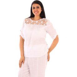 """T-shirty damskie: Lniana koszulka """"Majorque"""" w kolorze białym"""