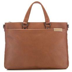 Torba w kolorze jasnobrązowym - (S)38 x (W)29 x (G)6 cm. Brązowe torby na laptopa marki Wittchen, w paski, z materiału. W wyprzedaży za 175,95 zł.