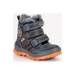 Buty dziecięce ciepłe na rzepy granatowe r. 36. Szare buciki niemowlęce American CLUB, na zimę, na rzepy. Za 141,29 zł.