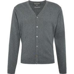Finshley & Harding - Sweter męski – Pima-Cotton/Kaszmir, szary. Czarne swetry rozpinane męskie marki Finshley & Harding, w kratkę. Za 179,95 zł.