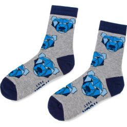 Skarpety Wysokie Unisex FREAK FEET - LPOL-GRN Niebieski Szary. Niebieskie skarpetki damskie marki Freak Feet, w kolorowe wzory, z bawełny. Za 19,99 zł.