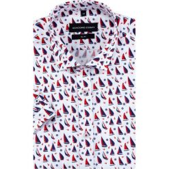Koszula SIMONE slim KKWS000021. Czerwone koszule męskie na spinki marki Cropp, l. Za 199,00 zł.