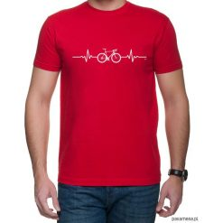 Koszulka T-SHIRT EKG szosa Red. Czarne t-shirty męskie z nadrukiem marki Pakamera, m, z kapturem. Za 75,00 zł.