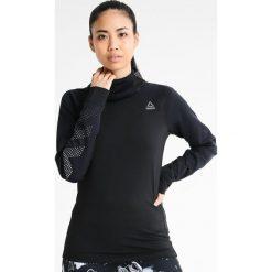 Reebok HEXAWARM Koszulka sportowa black. Czarne topy sportowe damskie marki Reebok, l, z elastanu. W wyprzedaży za 230,30 zł.