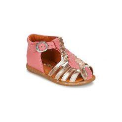 Sandały Dziecko  Babybotte  TANAGARA. Czerwone sandały dziewczęce marki Born2be, z materiału, z otwartym noskiem, na zamek. Za 263,20 zł.