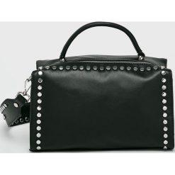 Medicine - Torebka Secret Garden. Czarne torebki klasyczne damskie MEDICINE, w paski, z materiału, średnie. W wyprzedaży za 69,90 zł.