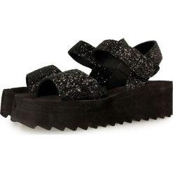 """Sandały damskie: Skórzane sandały """"Scala"""" w kolorze czarnym"""