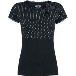 Rock Rebel by EMP Peggy Sue Koszulka damska czarny. Czarne bluzki asymetryczne Rock Rebel by EMP, xl, w grochy, z koronki, eleganckie, z dekoltem w łódkę. Za 114,90 zł.
