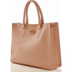 Shopper bag damskie: Torebka designerski shopper pastelowy róż MARGARET