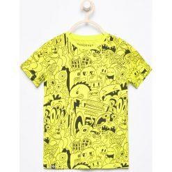 T-shirt z nadrukiem - Zielony. Zielone t-shirty chłopięce z nadrukiem Reserved, l. Za 29,99 zł.