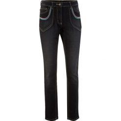 """Dżinsy ze stretchem bonprix czarny """"stone"""". Czarne jeansy damskie bonprix. Za 99,99 zł."""