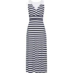 Sukienki: Sukienka bonprix biało-ciemnoniebieski w paski
