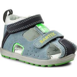 Sandały BARTEK - 011691-1-1P7 II Niebieski. Niebieskie sandały chłopięce Bartek, z nubiku. Za 139,00 zł.