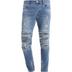 Jeansy męskie regular: Cayler & Sons INVERTED BIKER IAN PANTS Jeansy Slim Fit mid blue