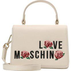 Torebki klasyczne damskie: Love Moschino ROSES  Torebka avorio