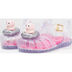 Sandały chłopięce: Melissa MINI ARANHA PIGGY Sandały kąpielowe clear glitter