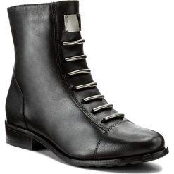 Botki EKSBUT - 65-3828-155-1G Czarny Licowa. Czarne buty zimowe damskie Eksbut, ze skóry. W wyprzedaży za 269,00 zł.