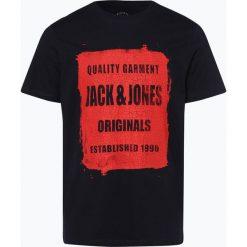 Jack & Jones - T-shirt męski – Jorrejistood, niebieski. Czarne t-shirty męskie marki Jack & Jones, l, z bawełny, z klasycznym kołnierzykiem, z długim rękawem. Za 59,95 zł.