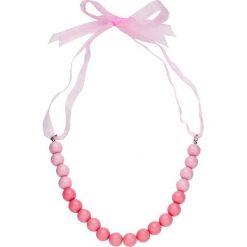 Naszyjniki damskie: Naszyjnik z perełek, z satynową tasiemką bonprix brzoskwiniowy