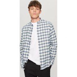 Odzież męska: Koszula w kratę – Niebieski