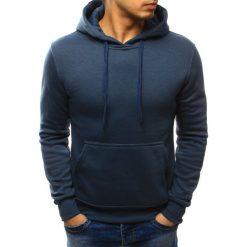 Bluzy męskie: Bluza męska z kapturem granatowa (bx2399)
