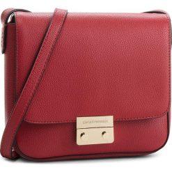 Torebka EMPORIO ARMANI -  Y3B080 YH65A 80133 Ruby Red. Czerwone listonoszki damskie Emporio Armani, ze skóry ekologicznej, bez dodatków. W wyprzedaży za 519,00 zł.