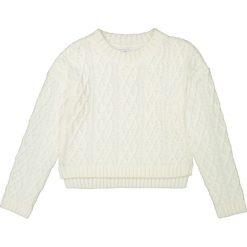 Krótki sweter z fakturą 10-16 lat. Szare swetry chłopięce La Redoute Collections, z okrągłym kołnierzem. Za 102,86 zł.