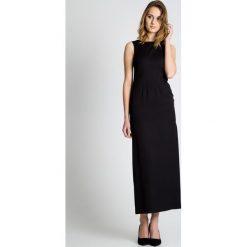 Sukienki: Czarna sukienka z rozcięciem BIALCON