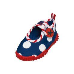 Playshoes  Buty do wody Konik wodny blue - niebieski - Gr.Moda (6 - 24 miesięcy ). Niebieskie buciki niemowlęce Playshoes, z materiału. Za 59,00 zł.