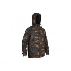 Kurtka myśliwska SIBIR 100 CAMO WOODLAND. Brązowe kurtki męskie marki LIGNE VERNEY CARRON, m, z bawełny. Za 149,99 zł.