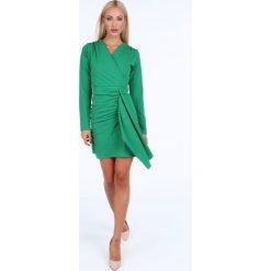 Sukienka z dapowaniem zielona 1817. Czarne sukienki marki Fasardi, m, z dresówki. Za 69,00 zł.