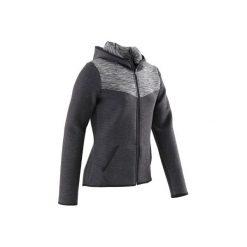 Bluza 500 Gym. Szare bluzy dziewczęce marki DOMYOS, z elastanu, z kapturem. Za 64,99 zł.