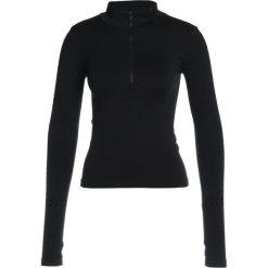 Free People DALES LAYERING  Bluzka z długim rękawem black. Czarne topy sportowe damskie Free People, z elastanu, sportowe, z długim rękawem. W wyprzedaży za 134,50 zł.