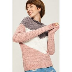 Szenilowy sweter w pasy - Wielobarwn. Szare swetry klasyczne damskie marki Sinsay, l. Za 69,99 zł.
