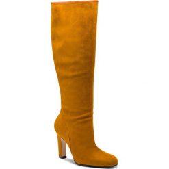 Kozaki STUART WEITZMAN - Charlie YL96210 Bridle Devon. Żółte buty zimowe damskie marki Kazar, ze skóry, na wysokim obcasie, na obcasie. Za 3429,00 zł.