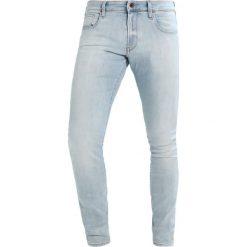 GStar 3301 DESCONSTRUCTED SUPER SLIM Jeans Skinny Fit lightblue denim. Niebieskie jeansy męskie G-Star, z bawełny. Za 469,00 zł.