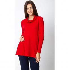 Czerwona bluzka z półgolfem QUIOSQUE. Czerwone bluzki nietoperze marki QUIOSQUE, z dzianiny, klasyczne, z golfem. Za 129,99 zł.