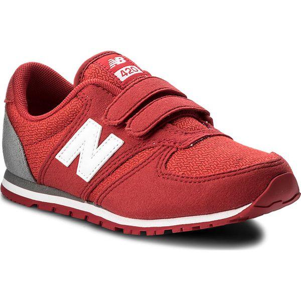2723857e8a48e Sneakersy NEW BALANCE - KE420EDY Czerwony - Czerwone trampki chłopięce New  Balance, ze skóry ekologicznej, na rzepy. W wyprzedaży za 189,00 zł.