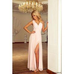 Sukienki: Sukienka ZWIEWNA MAXI tiulowa brzoskwiniowa