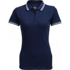 Koszulka polo damska TSD614 - granatowy - Outhorn. Niebieskie bluzki z odkrytymi ramionami Outhorn, z bawełny, polo. W wyprzedaży za 29,99 zł.
