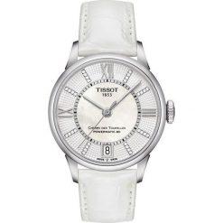 PROMOCJA ZEGAREK TISSOT Chemin des Tourelles Powermatic 80 Lady T09. Białe zegarki damskie TISSOT, ze stali. W wyprzedaży za 3344,00 zł.