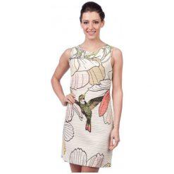 Sukienki hiszpanki: Desigual Sukienka Damska Menta M Kremowy