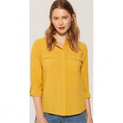 Gładka koszula - Żółty. Żółte koszule damskie marki Mohito, l, z dzianiny. Za 59,99 zł.